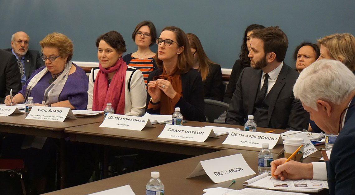 Speaking at Capitol Hill Paid Leave Roundtable